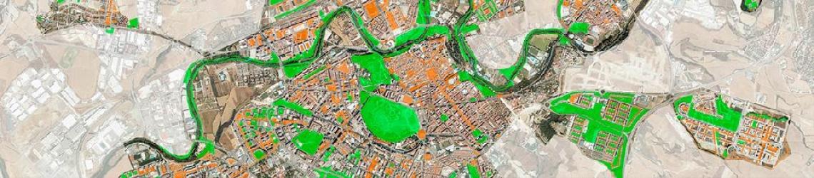 Mapa satelital de Pamplona